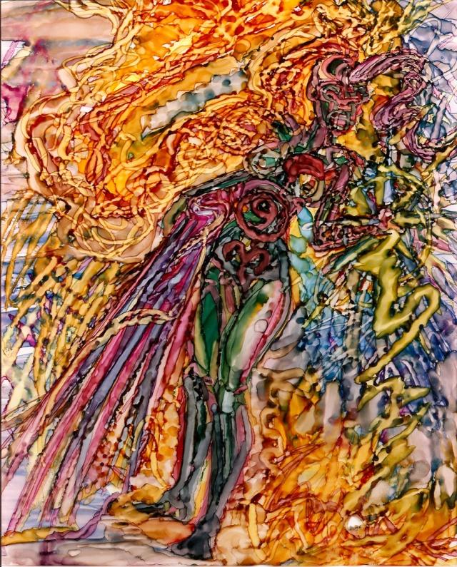 John David Romo, pintura en acetato, ca.1990s