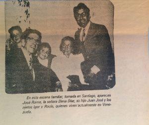 Mi padre fue a visitarles con mi hermano menor, John David, ca. 1976.