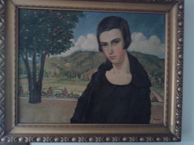 Retrato de Aída Castellón Cruz (1906-2010) por José Miguel Romo Cargas, circa 1921.